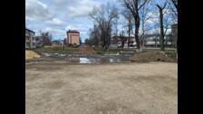 В Тымовском по второму кругу благоустраивают сквер за 10 миллионов