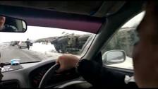 На трассе из Стародубского во Взморье автомобили уходят с дороги