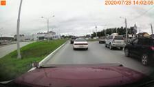 Нарушение ПДД на новом кольце Федоровки