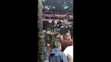 Два транса-модели отбились от напавших в баре