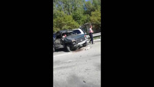 «Ниву» разворотило в столкновении трех машин на трассе в районе Сокола