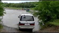 Еще одно авто утонуло в реке на юге Сахалина