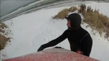 Зимний серфинг в Лесном, Сахалин, 23 декабря 2018