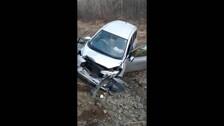 Два автомобиля столкнулись на трассе в Смирныховском районе