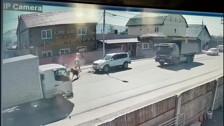 У «Караван-Сарая» в Южно-Сахалинске лошадь попала под Land Cruiser